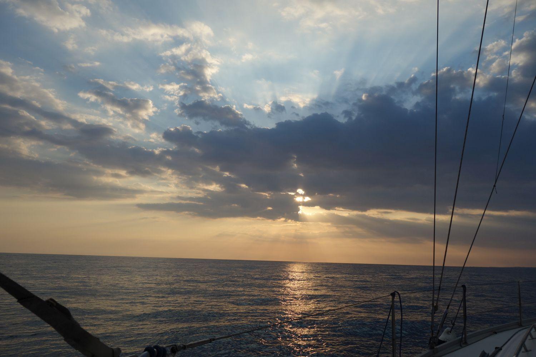 Sonnenuntergang vor Ragusa