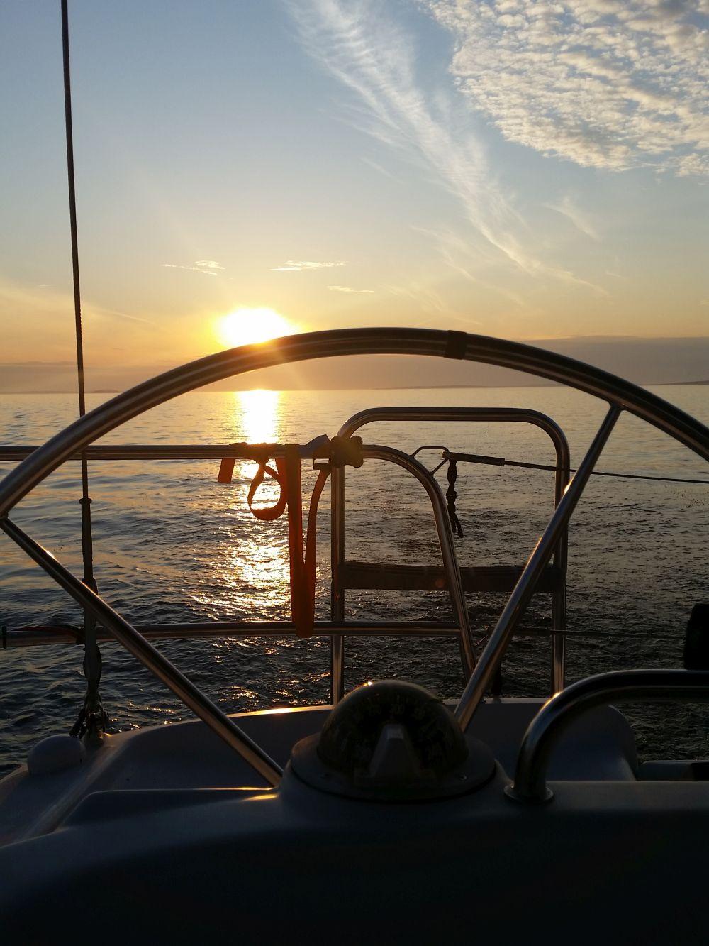 Sonnenuntergang - schön und warm ists auch