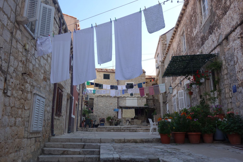 Wäsche trocknen in Dubrovnik