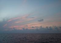 Wolken nach Sonnenuntergang