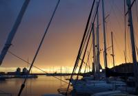 Sonnenuntergang in der Marina